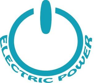 ELECTRIC POWER- Electric Car Vinyl Decal Sticker
