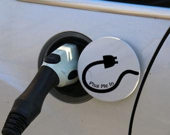 Plug Me In-Electric Car Vinyl Decal Sticker