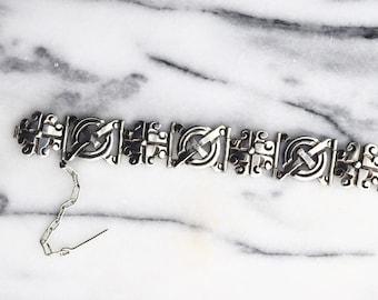 Vintage Taxco 980 Silver Link Bracelet