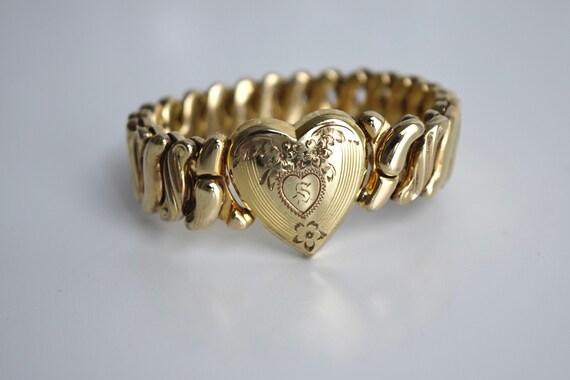 Vintage Sweetheart Expansion Bracelet With S Monog
