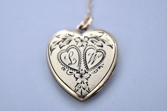 Vintage Heart Locket / Gold Filled Sweetheart Lock