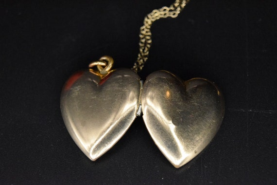 Vintage Plain Gold Filled Heart c.1940s