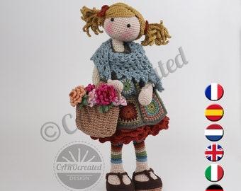 Crochet Pattern for Doll YLVI, pdf (Deutsch, English, Français, Nederlands, Español, Italiano)