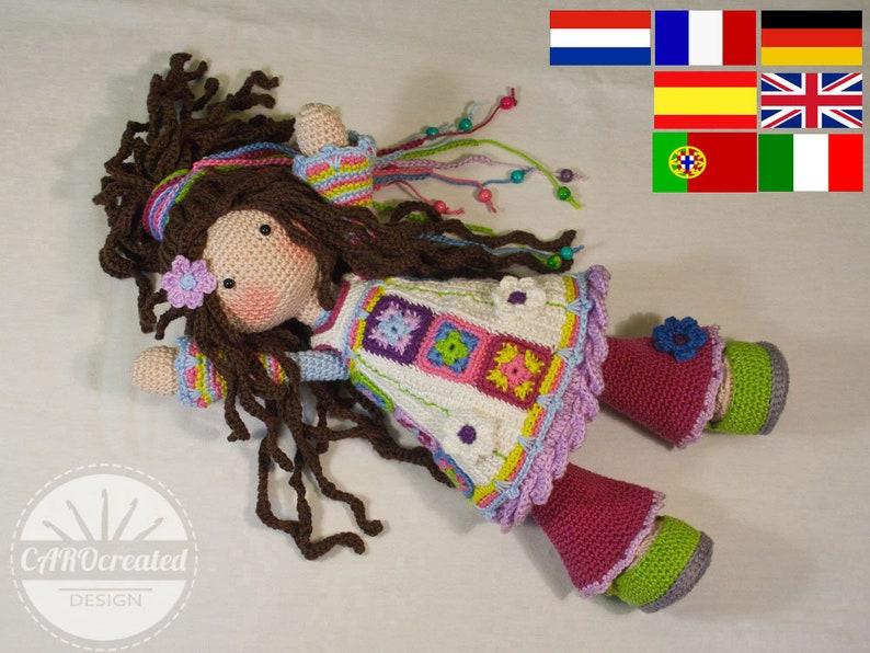 Crochet pattern for doll YUNA pdf  Deutsch English image 0