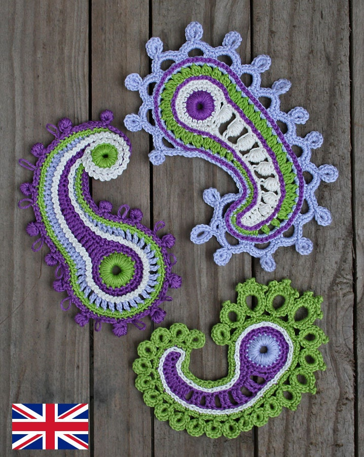 Paisley Loop Crochet Pattern Pdf Only In English Etsy
