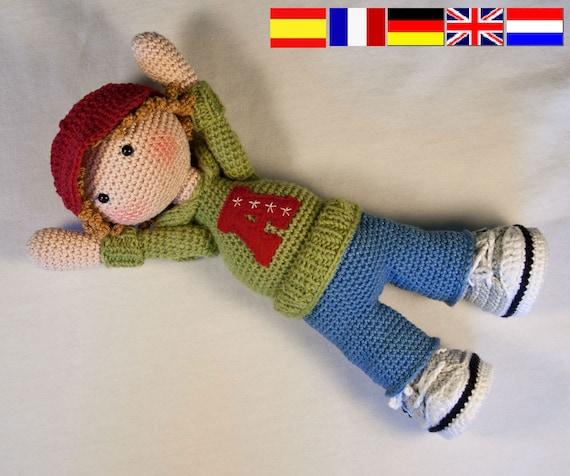 PDF/ Häkelanleitung Puppe JOSH | Etsy