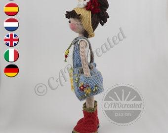 Crochet Pattern for Doll KAYLA, pdf (Deutsch, English, Français, Nederlands, Español, Italiano)