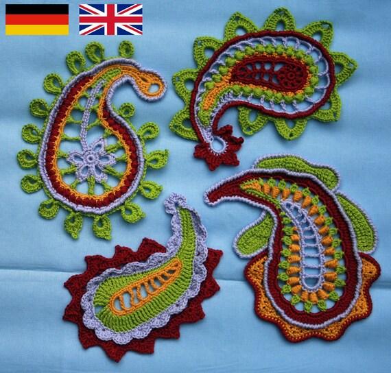 Paisley Magic Crochet Pattern Pdf In English Deutsch