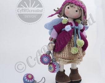 Crochet Pattern for Doll LUMI, pdf (Deutsch, English, Français, Nederlands, Español, Italiano)