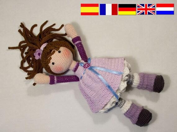 Pdf Häkelanleitung Puppe Mia Etsy