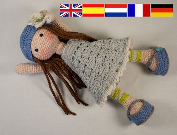 Pdf Häkelanleitung Puppe Lilly Etsy