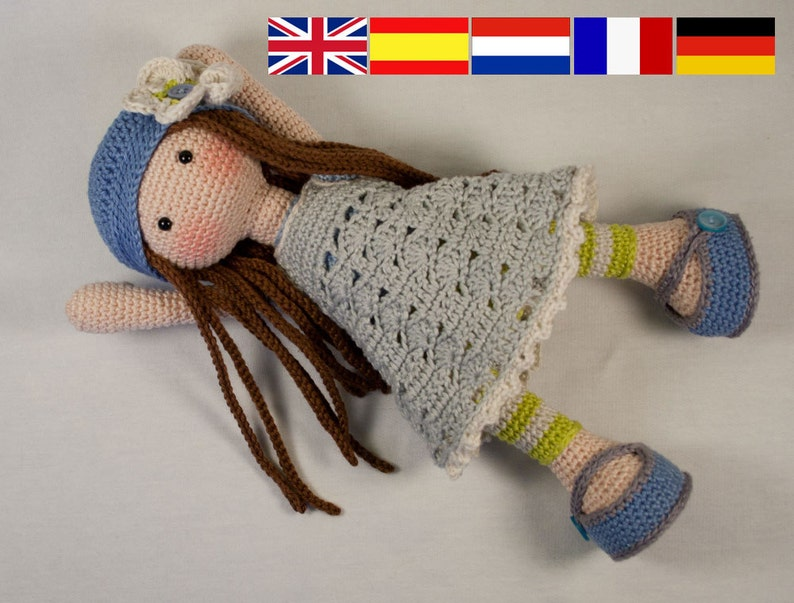 Crochet pattern for doll LILLY Deutsch English French image 0