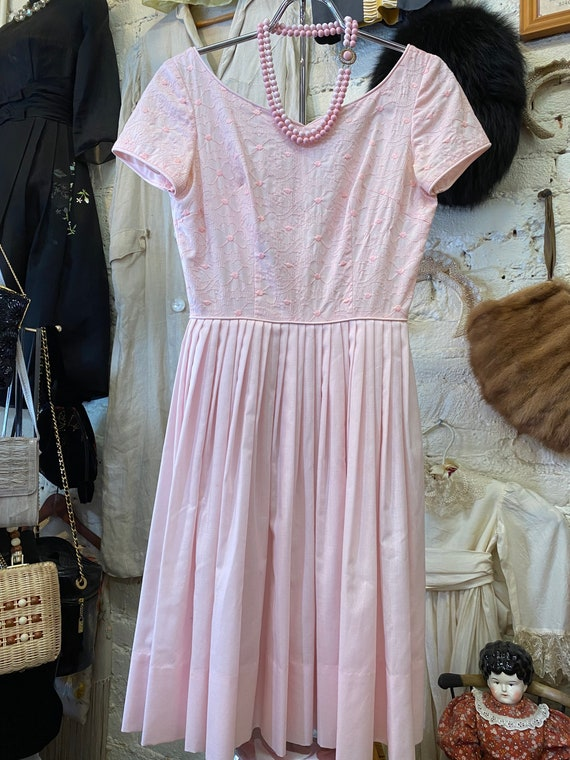 Pink fit & flare dress