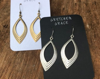 Bohemian hoops in silver or gold