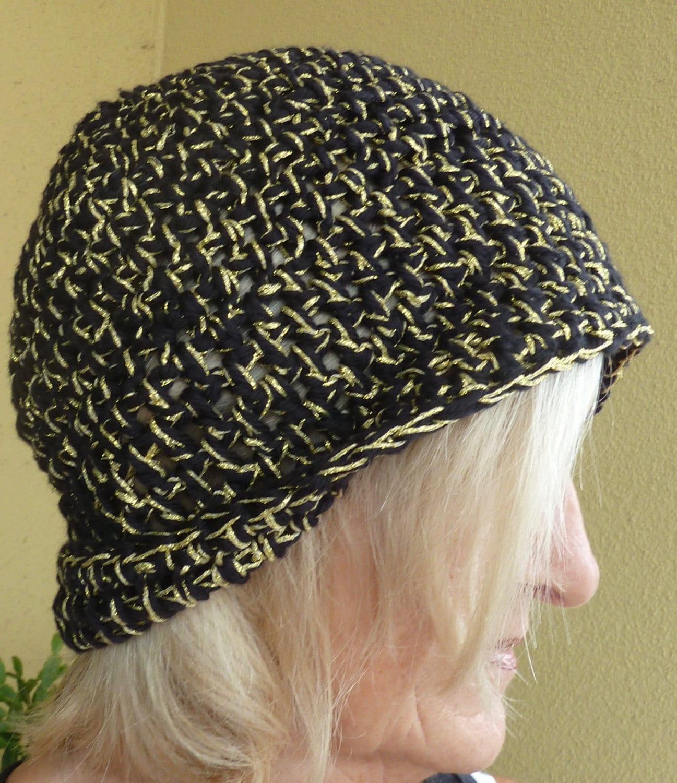 2117b7ac2 Black gold team hat, handmade crochet hat, original winter hat, black gold  hat