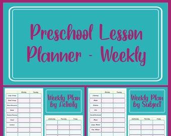 Preschool Lesson Planner - Weekly Planning