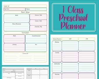 1-Class Preschool Planner