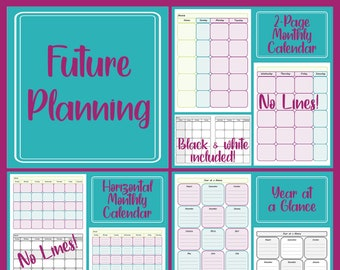 Preschool Planner Future Planning - Month and Year