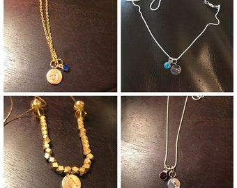 Pave Constellation Charm Necklaces