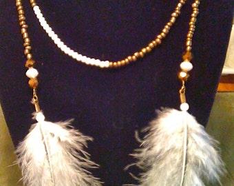 Copper and Cream Wrap Necklace