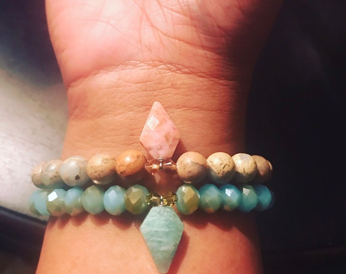 Stackable African Opal Crystal Spear