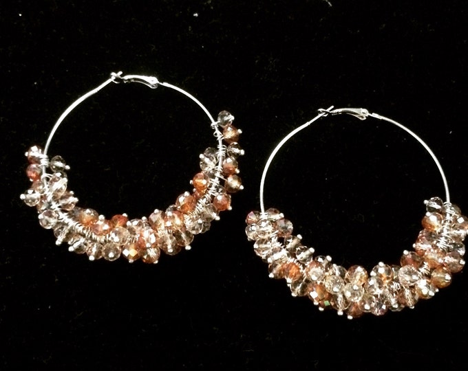 Autumn Sparkle Hoops