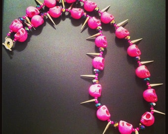 Pinky Skull Necklace