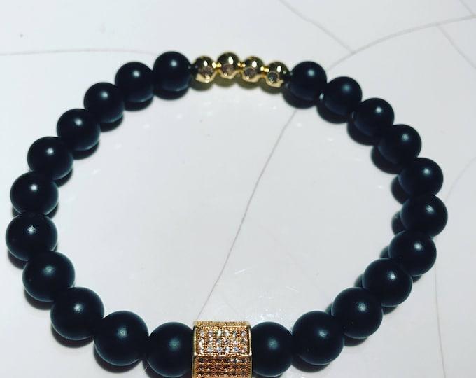 Black Matte Bar Bracelet