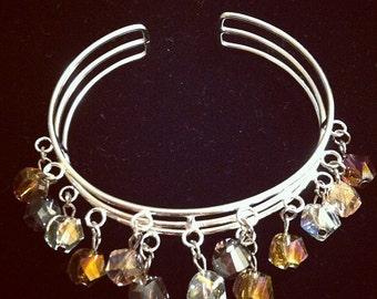 Pastel Crystal Cuff Bracelet Crystal Cuff Bracelet
