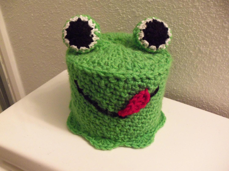 Rana verde baño cubierta de tejido de ganchillo Crochet baño   Etsy