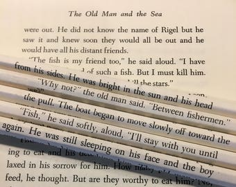 The Old Man and the Sea Wrapped Pencil Set