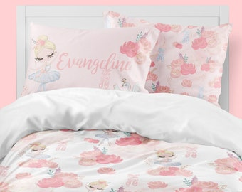 Bedding Set, Girls Room, Ballerina, Comforter, Duvet Cover, Twin, Queen,  King, Toddler Bedding, Personalized, Ballerina Room Decor, Pink