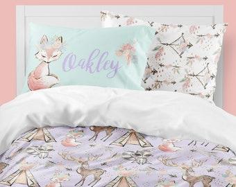 Littlest Pet Shop Twin Comforter Woodland Girls Room, Boho Girl