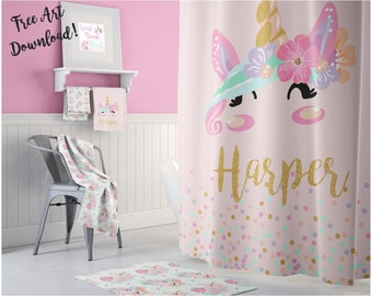 Unicorn Curtains Etsy