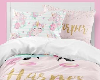 unicorn girls room unicorn girls bedding twin duvet covers toddler comforter girl queen duvet cover bedding sets kids teen bedding - Unicorn Bedding