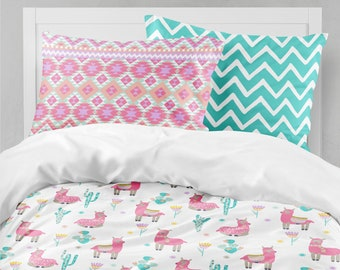 Llama Girls Room, Pink Girls Bedding, Toddler Duvet Covers, Toddler  Comforter, Girl Twin Duvet Cover, Bedding Sets Kids, Teen Bedding
