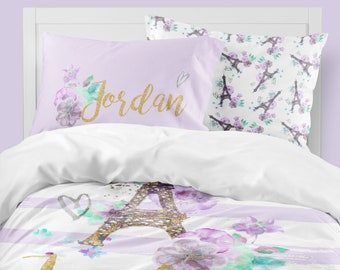 paris bedding etsy. Black Bedroom Furniture Sets. Home Design Ideas