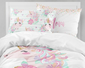 Unicorn Girls Room, Unicorn Girls Bedding, Toddler Duvet Covers, Toddler  Comforter, Girl Twin Duvet Cover, Bedding Sets Kids, Teen Bedding