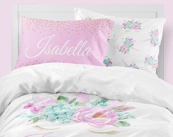 Unicorn Girls Room, Unicorn Girls Bedding, Twin Duvet Covers, Toddler  Comforter, Girl Queen Duvet Cover, Bedding Sets Kids, Blush And Gold