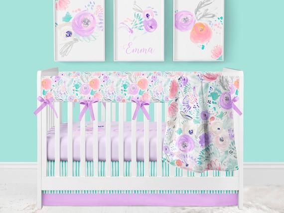 Crib Bedding Set Baby Girl Nursery, Baby Girl Purple Bedding Sets