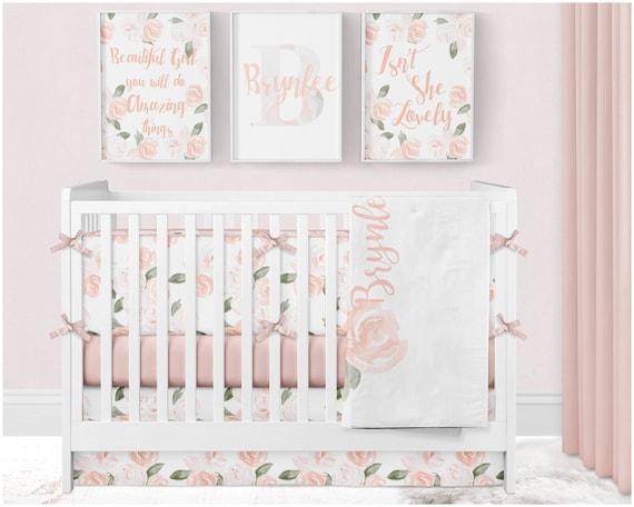 Floral Nursery Bedding Mesmerizing Baby Girl Crib Bedding Floral Crib Bedding Crib Bumpers Etsy