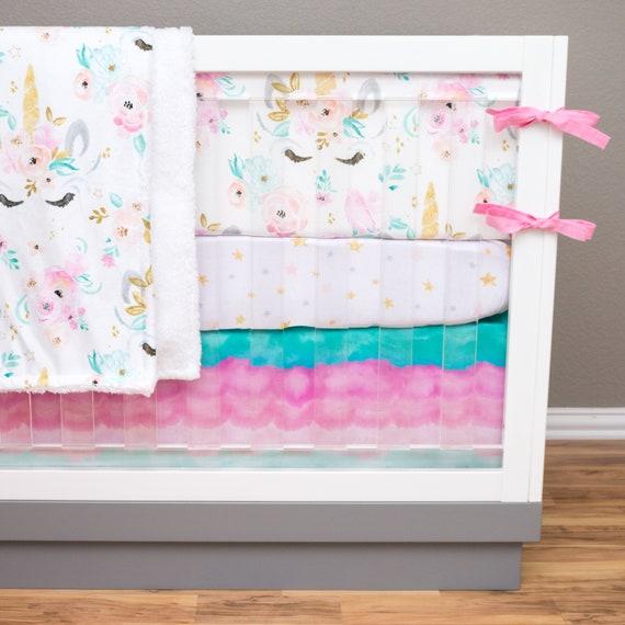 Girl Crib Bedding Unicorn Nursery Set Girl Baby Bedding Etsy