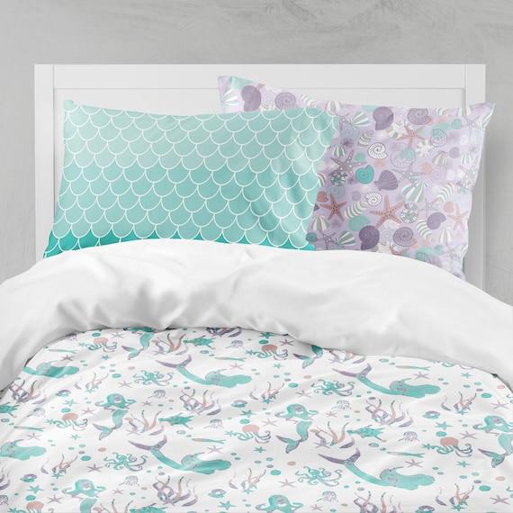Mermaid Bedding Purple Teal Bedding Mermaid Girl Room