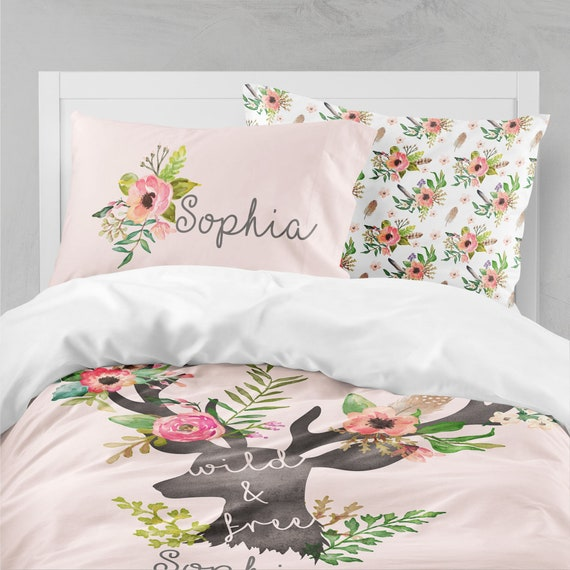 Teenage Bedding Sets Full.Woodland Boho Girls Room Floral Girls Bedding Twin Duvet Covers Toddler Comforter Queen Duvet Cover Bedding Sets Kids Teen Bedding