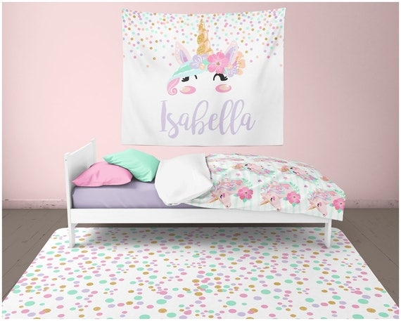 Unicorn Room Decor Girl Nursery Rug Wall Decor Unicorn Wall Etsy