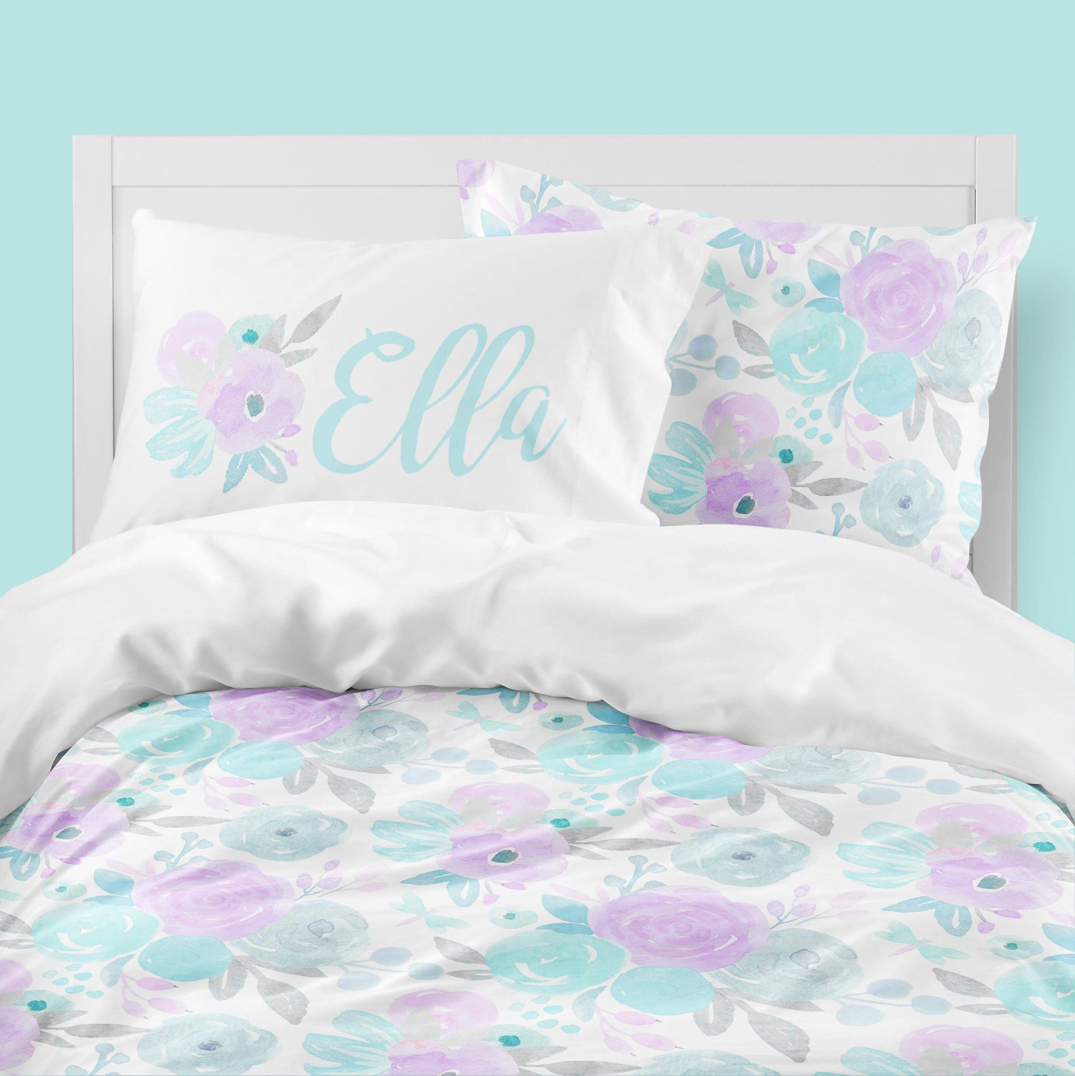 Floral Bedding Set Duvet Cover Comforter Girls Room Etsy