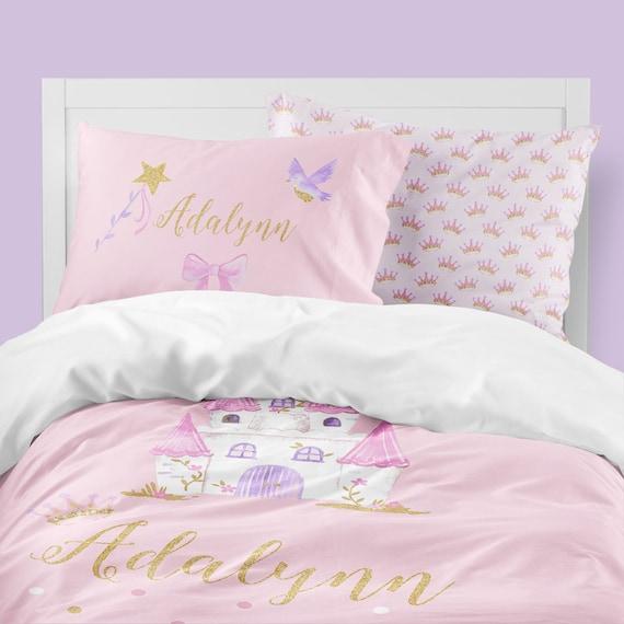 Pink Girls Room Bedding Set Princess, Fairy Princess Twin Bedding