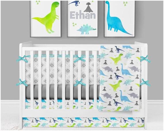 Baby Boy Crib Bedding Dinosaur Nursery, Dinosaur Nursery Crib Bedding