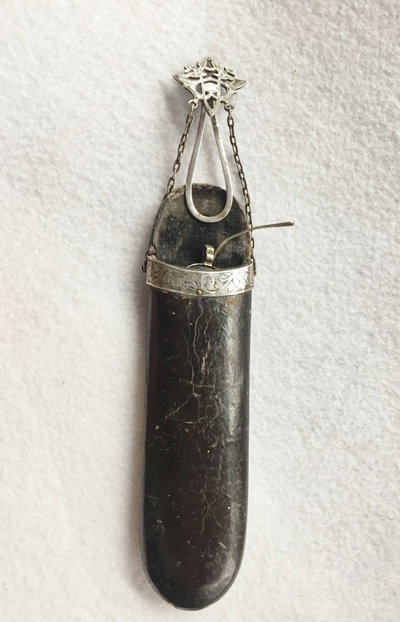 Victorian Eyeglass Chatelaine with Silver Spectacl