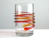 Blenko Glass Myers 6710A Tangerine Honey Double Spiral Vase
